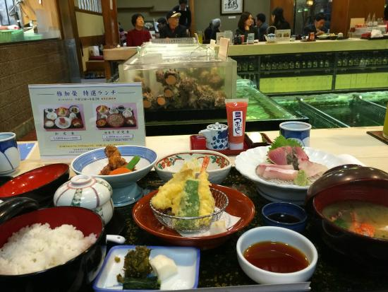 Chikae Fukuoka: the works and what's in the pink-tube is Cod-Roe