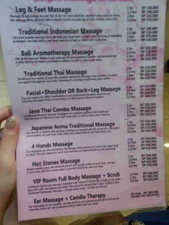 Batam Center, Indonesia: Price List