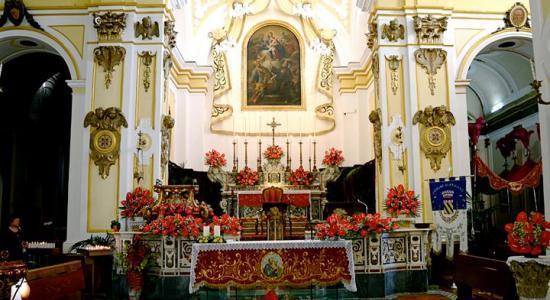 Praiano, Italie : Altare maggiore
