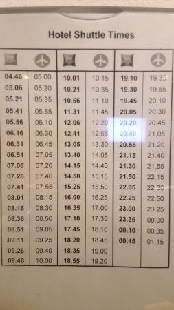 Badhoevedorp, Países Bajos: ホテルから空港へのシャトルバス時刻表