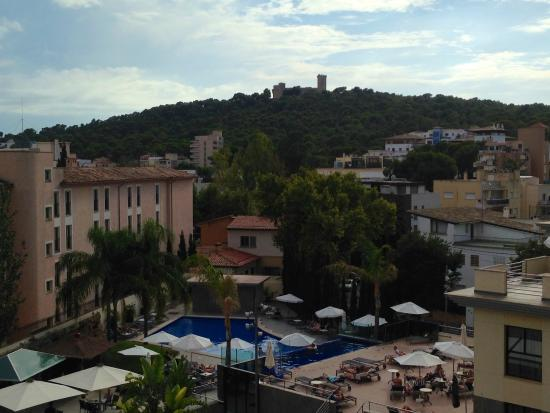 The view from our room picture of hotel isla mallorca - Palma de mallorca spa ...