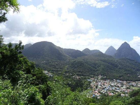Bel Jou Hotel : The Pitons.