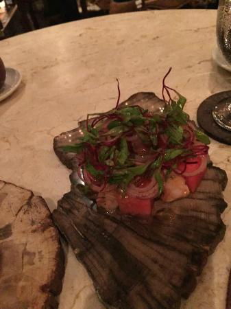 Park Cafe: Cerviche of Red Snapper with Passion Fruit and Watermelon