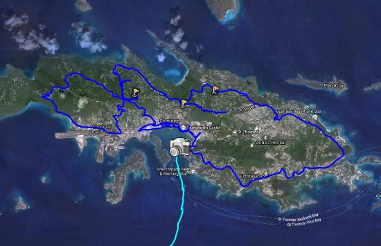 Map of our route - Picture of Skyline Drive, St. Thomas - TripAdvisor