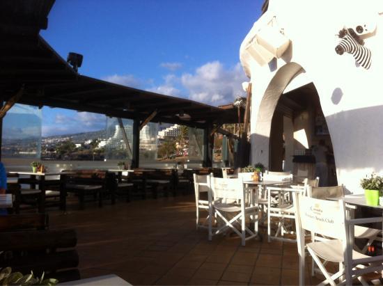 Monkey Beach Club : La terrazza sul mare