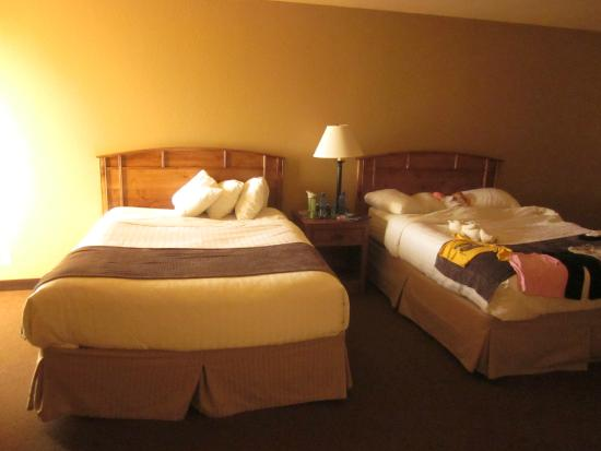 Ramada Plaza Omaha Hotel and Convention Center: Bowed Beds