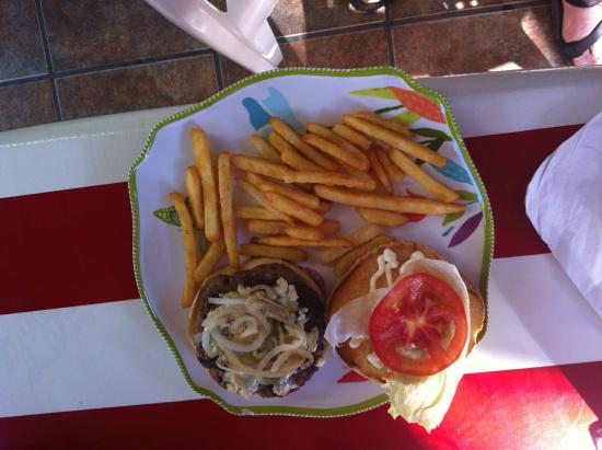 Mary's: Blue cheese burger