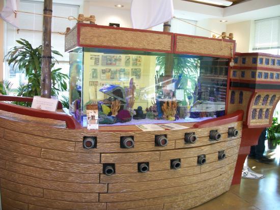 Perdido Key Visitor Information Center Tanked Pirate Ship Aquarium