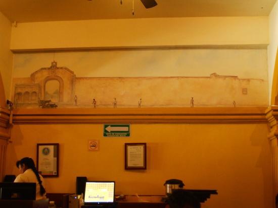 Marganzo: Représentation de la muraille de Campeche sur le mur