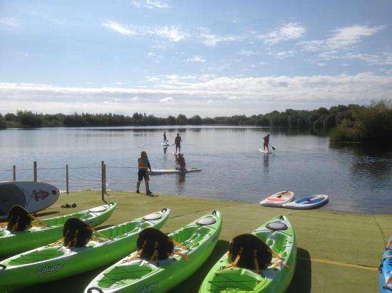 Stand up paddle board - Picture of Cotswold Water Park Hire, South ...