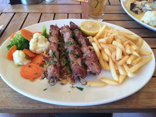 Caballeros : Pork Kabobs excellent