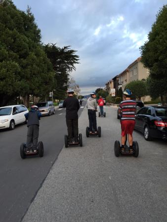 City Segway Tours San Francisco: Moms pic of dad and three kids