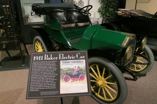 Museum Of Florida History An Original 1911 Baker Electric Car Is Exhibited