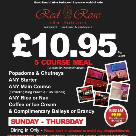 Red Rose Restaurant: 5 course meal 