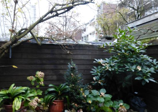 Annette's B&B: Маленький сад где можно посидеть на свежем воздухе A small garden where you can sit in the fresh