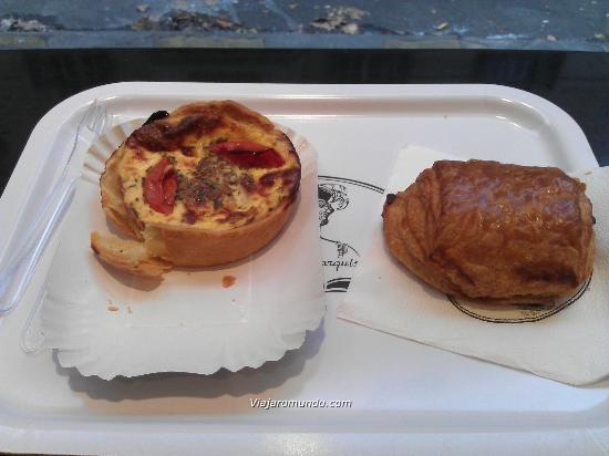La Petite Marquise : Quiche e pain au choolat