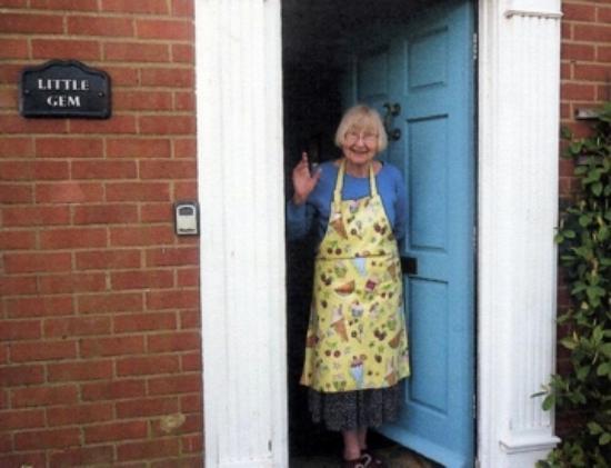 Mrs Money outside A Little Gem