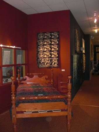 National Museum of the American Coverlet: Coverlet by bed