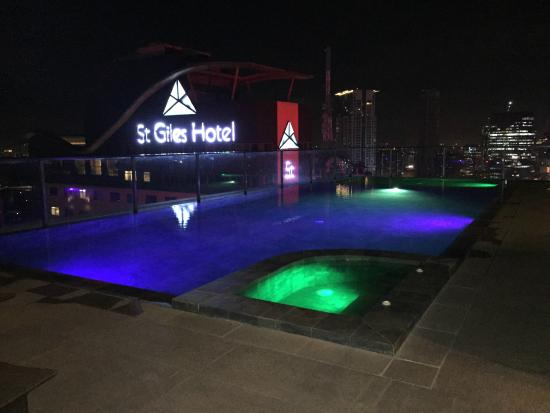 Swimming pool by night Picture of City Garden Grand Hotel