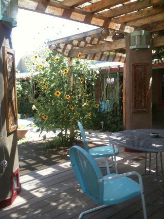 Blackstone Hotsprings Lodging & Baths: La corte con il giardino