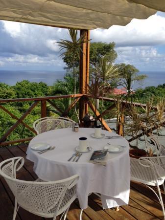 Hotel Mocking Bird Hill: Our lovely breakfast spot