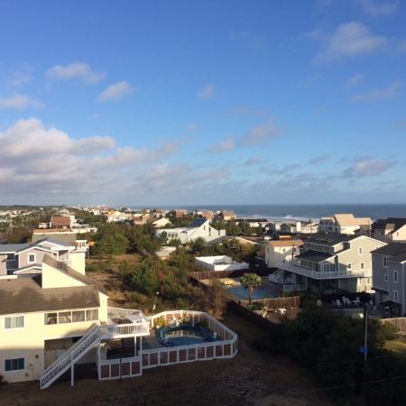Sandbridge Dunes: View from condo balcony
