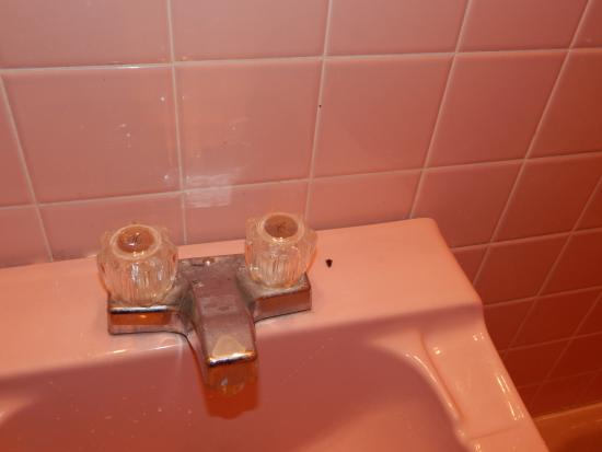 Red Carpet Inn Grand Island: unclean sink
