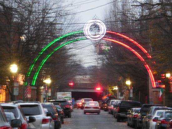 Little Italy: Wooster Street Arch Lit Up