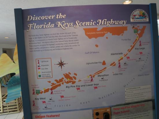 Florida Keys Visitor Center : A good map to tell you about the different keys