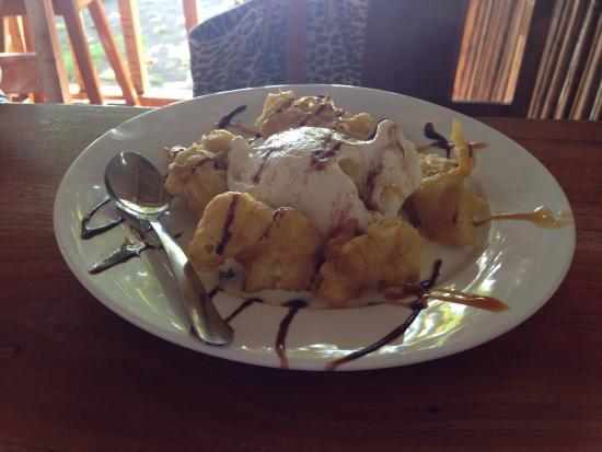 Vida Hermosa Bar y Restaurante: Banano tempura