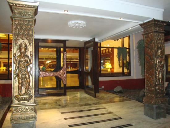 Hotel Annapurna: The entrance
