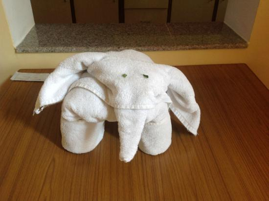 Park Village Hotel & Resort: The little elephant welcomed me to the room