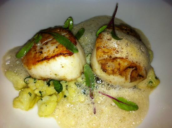 Maximo Bistrot Local: Scallops with langosta foam - delightful!