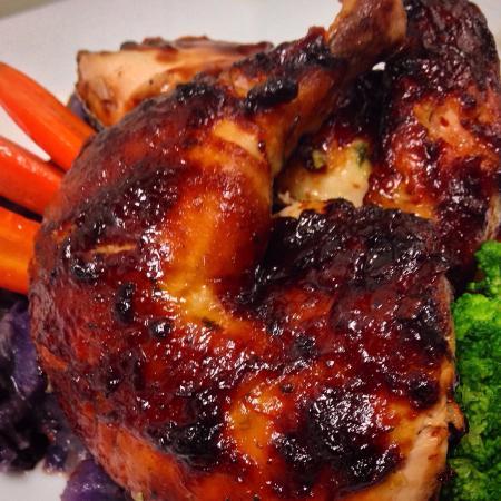 Sea Glass Waterfront Grill: Bourbon-Blackberry Roast Chicken