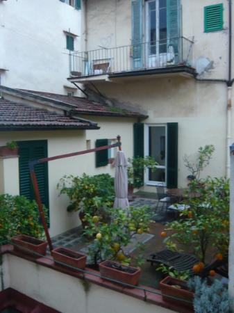 Hotel dei Macchiaioli : view from our corner room