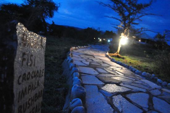 Elangata Olerai Luxury Tented Camp: The well Lit Paths