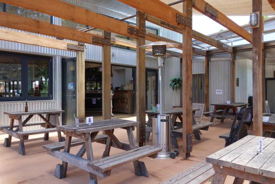 Bright Brewery: The outside area
