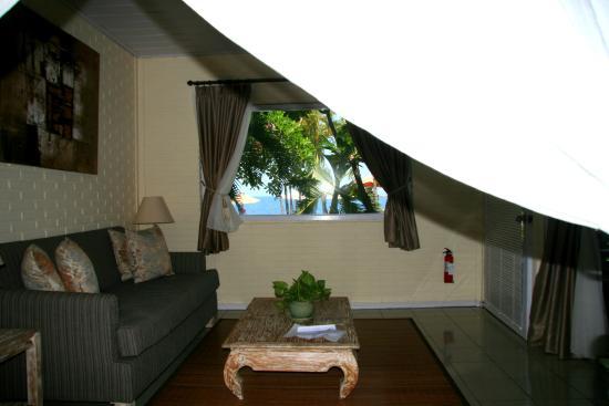 Tauch Terminal Resort Tulamben & Spa: widok z łóżka