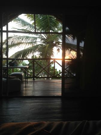 Playa Xcanan Cabanas Tulum: Sunrise - view from bed