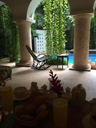 San Pedro Hotel Spa: vista de piscina de planta baja