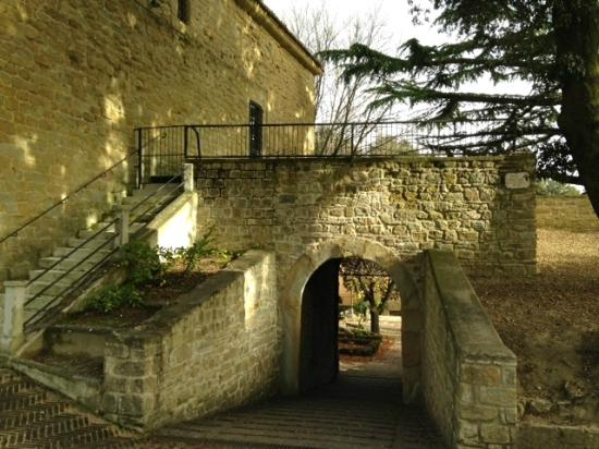 The gate-house from inside the Rocca Borgesca