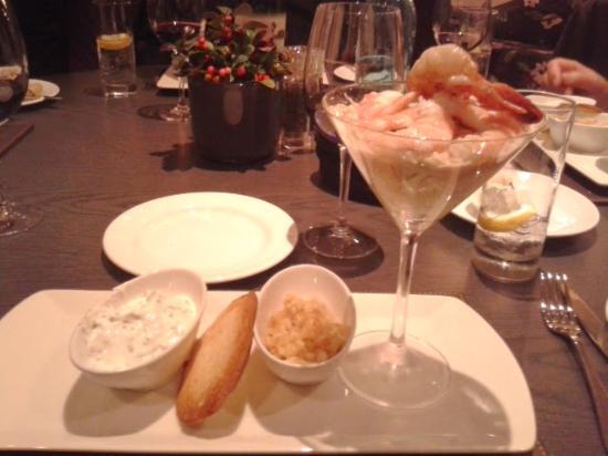 Scoff and Banter Covent Garden: Devonshire Crab & Prawn cocktail