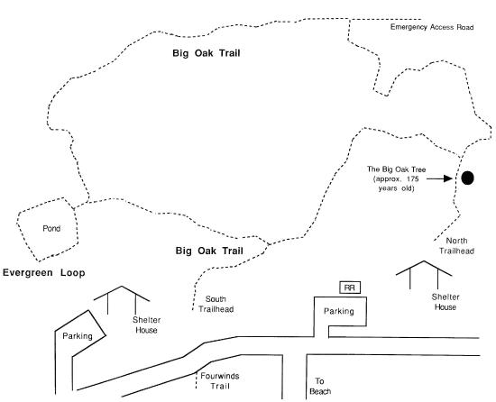 Big Oaks hiking trail map - Picture of Fairfax State
