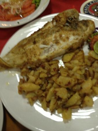 Old Germany Restaurant Hua Hin : Filet of sole with fried potatoes