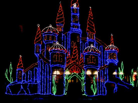 schooner inn boardwalk christmas lights beside the schooner - Christmas Lights Virginia Beach