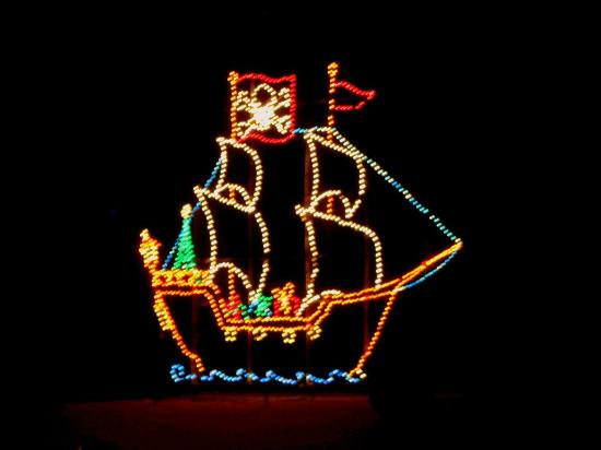 Boardwalk Christmas Lights Beside The Schooner Picture