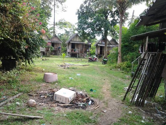 Siam Hut Koh Chang: Quelle beau parc,  bien sale :((