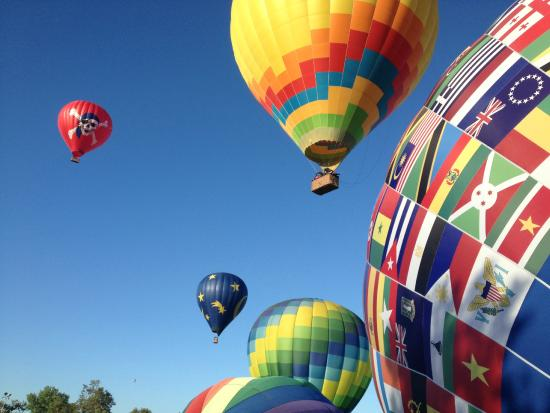 some of our balloons taking off picture of magical adventure