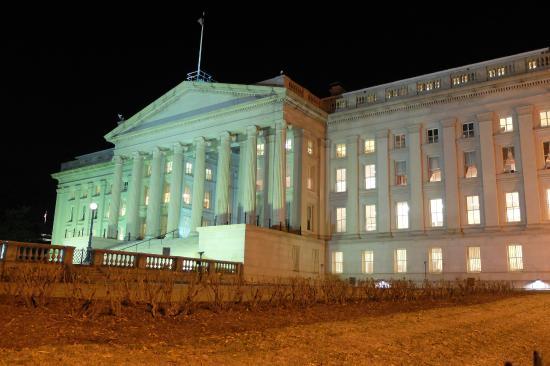 United States Department of the Treasury: Fachada do prédio do Tesouro Americano