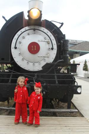 French Lick Scenic Railway: In front of the train